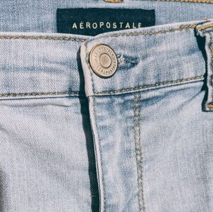Aeropostale High Waisted Distressed Jeggings